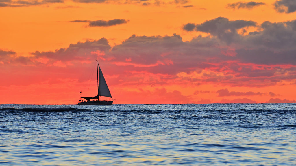 learn to sail and see sunsets like this!